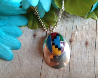 Vintage Native American Pendant Necklace, Pendant, Necklace, Gift For Her