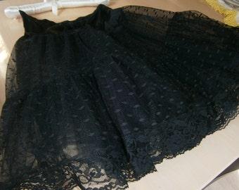 Black Lace Crinoline