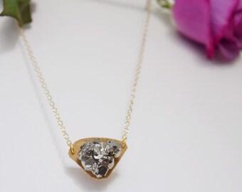 Athena Necklace-Pyrite/Druzy Pendant