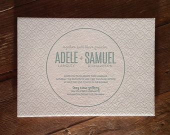 Mod Star Design Letterpress Invitation DEPOSIT