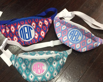 Monogrammed iKat Fanny Pack for Sororities, Spring Break, Bachelorette Parties, and More!