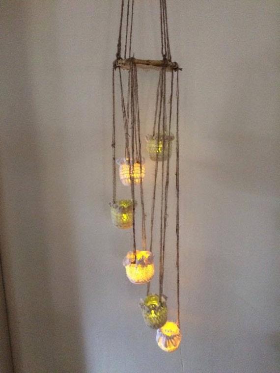 candle chandelier battery operated tealights by keepsakekanvas. Black Bedroom Furniture Sets. Home Design Ideas