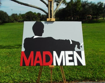 "Original Mad Men Painting on Canvas 16"" by 24"""