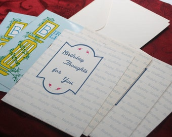 Vintage 60's Birthday Cards unused with Envelopes, Vintage Cards