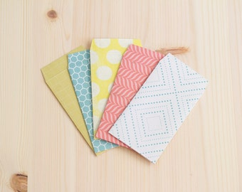 Set of 5 Gift Card Envelopes