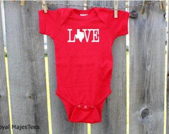 Love Texas Baby Bodysuit