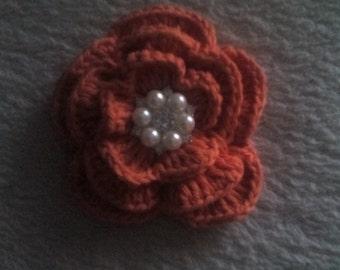 1 crochet flower, crochet flowers, appliques, craft supplies, sewing supplies