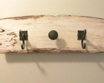 Reclaimed Wood Wall Hook Accessory Organizer