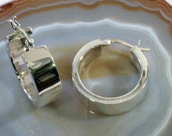 Hoops 925 sterling silver  --  4205