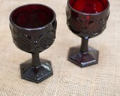 Red Avon Goblet - Set of Two - 4.5 inch tall