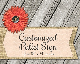 """Customized Pallet or Wood Sign - up to 18"""" x 24"""" in size"""