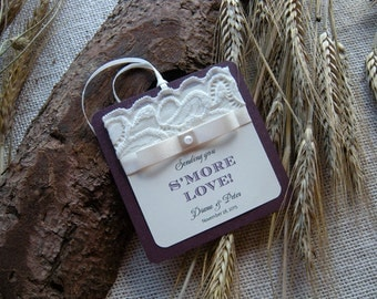 Wedding gift tag, Rustic Wedding gift tag, Lace Wedding gift tag