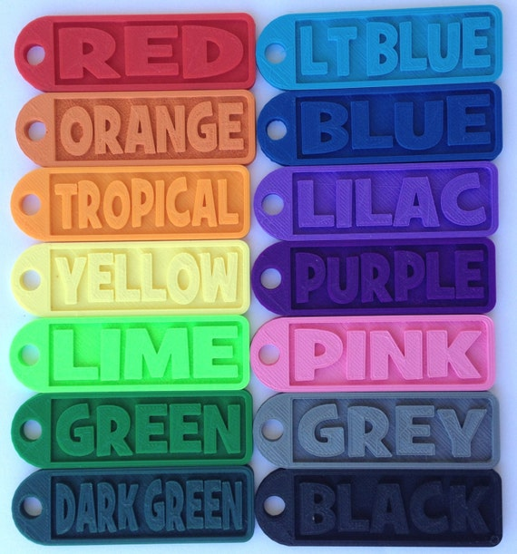 Personalized 3d Printed Keychains Luggage Tags By Makeit3d