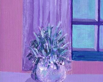 purple paintings, purple wall art, purple prints, purple wall hangings, vintage art, vintage paintings, original paintings, purple decor