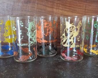 1940's seven dwarves glasses