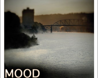 Literary Device Art Print, Mood, Literary Poster, For Classroom, Office, Home or Library, Morning Misty River