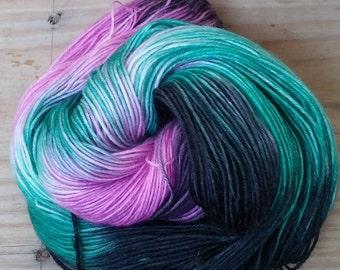 Hand dyed yarn, Made to order, MERMAID DREAMS,Multicolored yarn,hand painted yarn,fingering weight,superwash, dip dyed yarn,  hand dyed yarn