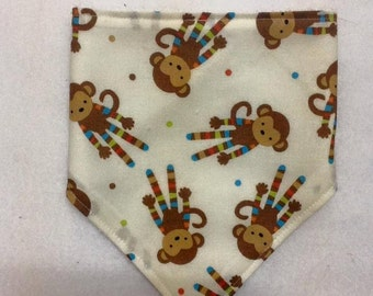 Monkey Bandanna Bib ~ 20% off listed price, see description for code ~