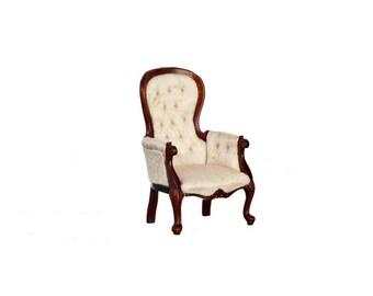 1:12 Scale Miniature 1840 Show-Frame Armchair