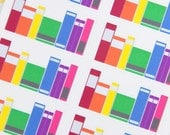 8 Row of Rainbow Books Stickers  - Planner Stickers for Erin Condren Life Planners