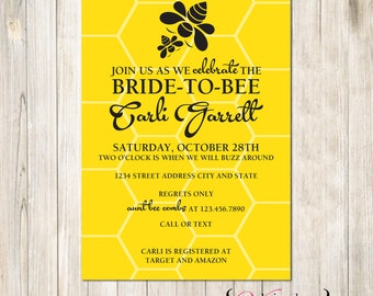 Bumble Bee Comb Bridal Shower Invite