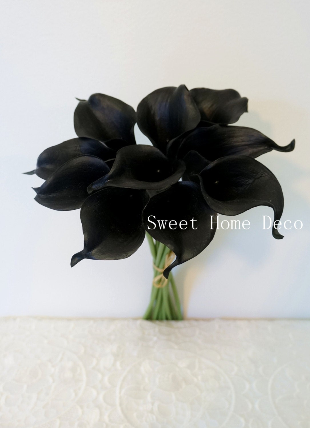 JennysFlowerShop 15 Latex Real Touch Artificial Calla