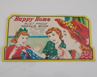 Happy Home Needle Book made in Japan