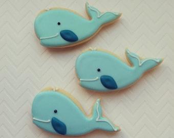 Whale sugar cookies(12)