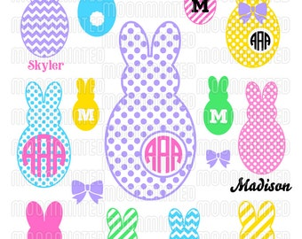 Easter Bunny SVG Cut Files - Monogram Frames for Vinyl Cutters, Screen Printing, Silhouette, Die Cut Machines, & More