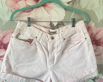 Baby Pink High Waisted GUESS Shorts
