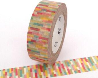 MT Tape Block Multi Coloured Washi Tape