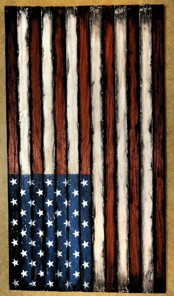Wooden American Flag Decor Sign American Flag Wall Art