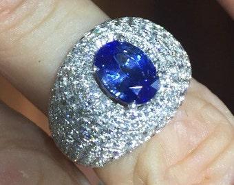 Sapphire Ring 18K Sapphire September Birthstone