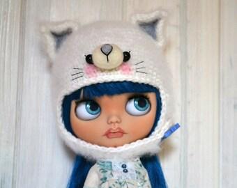 Hat Fluffy Cat for Blythe