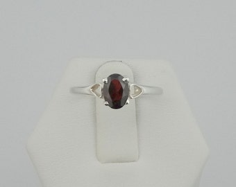 Fun Garnet and Sterling Silver Ring