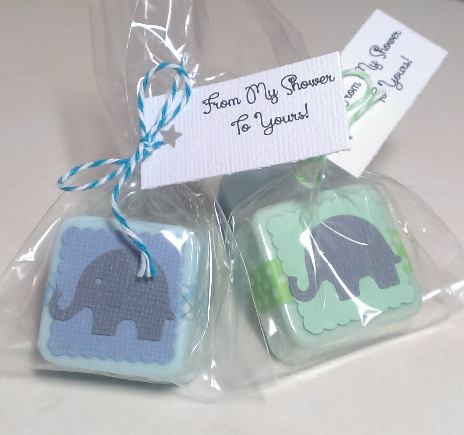24 Baby Shower Favors boy Baby elephant shower favors Circus