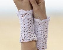 Crochet Ladies Short Cotton Wrist Warmer, Summer, Fingerless Gloves, Custom Order, Handmade, Evening Gloves, Wedding