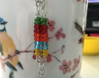 Colourful Bird Dangle Hook Earrings