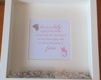 New Baby Fairy Footprint Frame