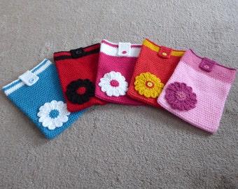 SALE!!!! Floral Crochet IPad Cover/ Case