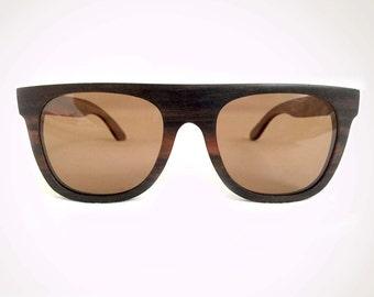 Mato Handmade Eco-friendly Fashion Bamboo Wayfarer Flattop Retro Wooden Sunglasses