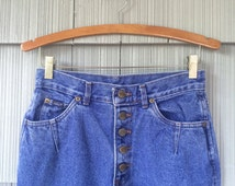 Vintage 80s era Chic Jeans / Button Fly / High Waist & Tapered Leg / Button Ankle / Made in the USA / 29 Inch Waist