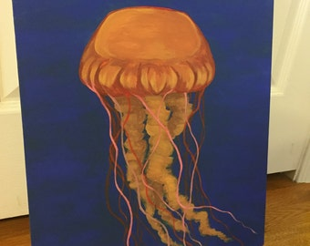 Jelly fish jubilee, acrylic painting