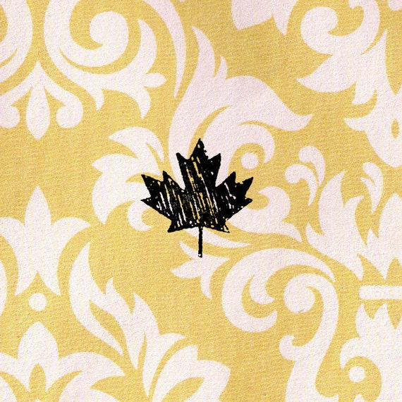 Maple leaf stamp wood mounted rubber canada