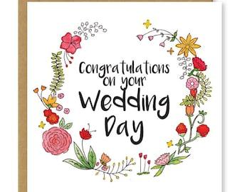 Wedding Gift Congratulations Cards : wedding card congratulations on your wedding day newly weds congrats ...
