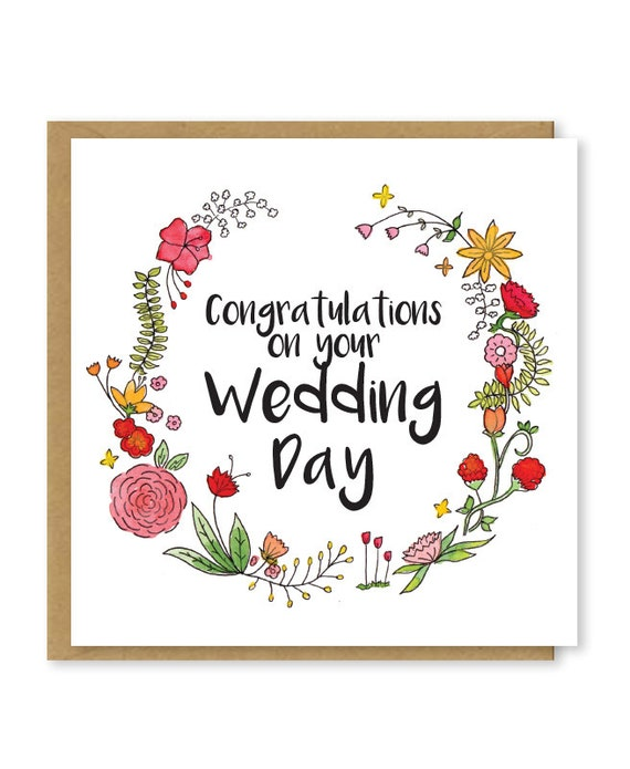 Wedding Wishes For Muslim: Wedding Card Congratulations On Your Wedding Day