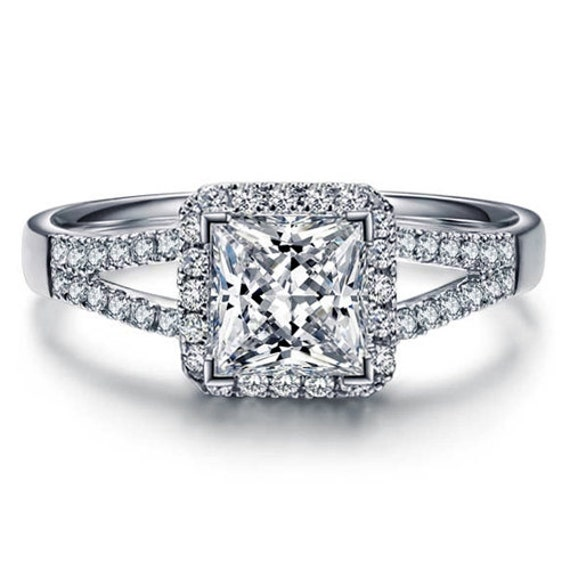 princess cut forever brilliant moissanite by ldiamondsforever