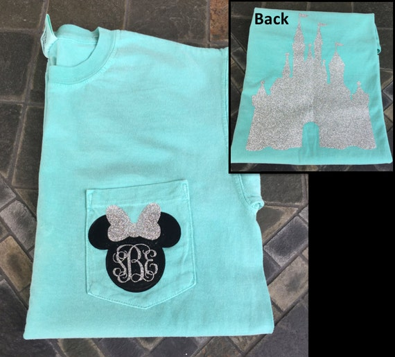 Items Similar To Minnie Mouse Inspired Monogram Glitter