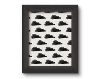 Little Black Clouds Print
