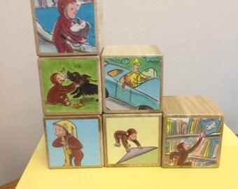 Curious George storybook blocks